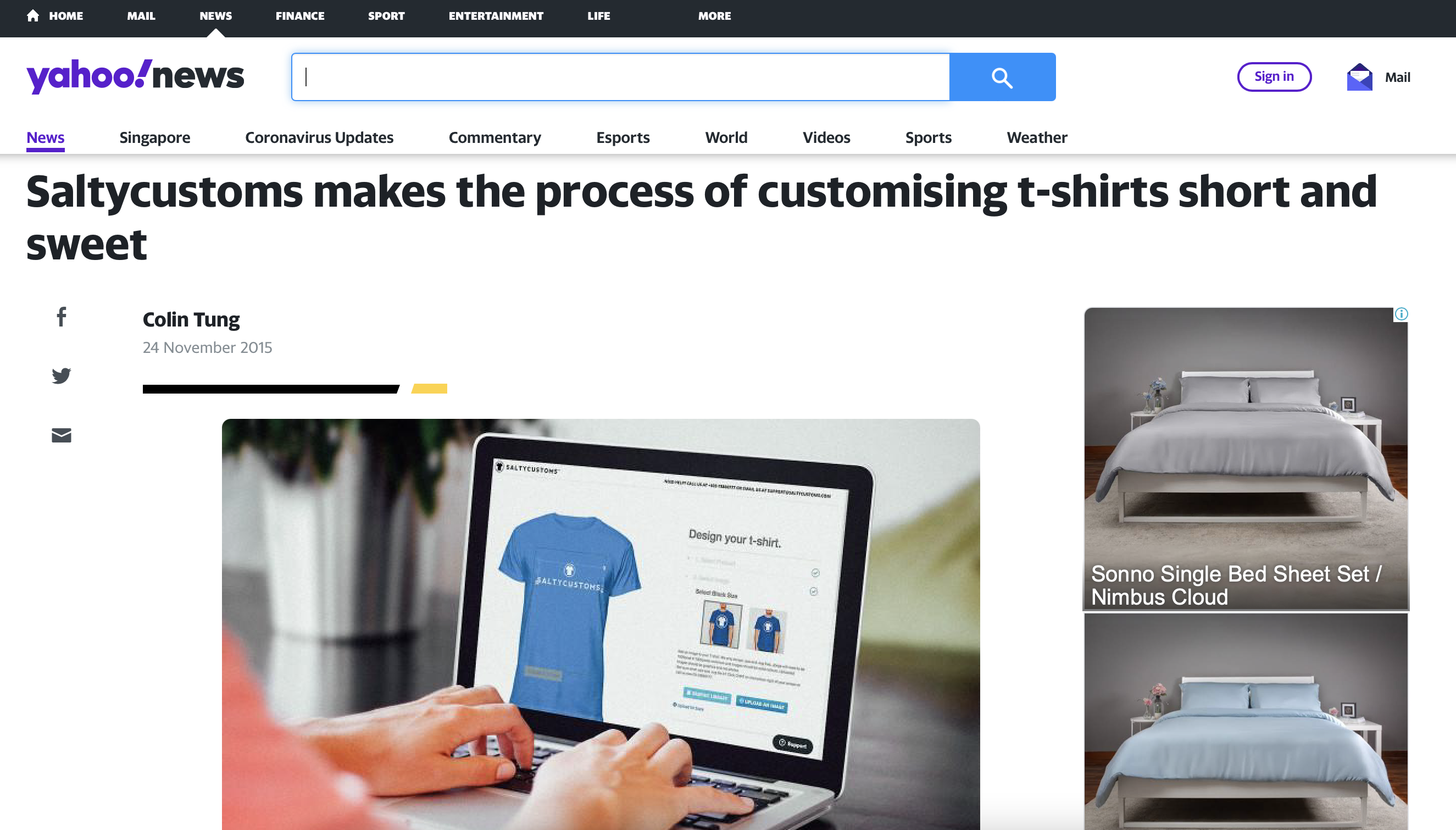 SaltyCustoms Develops Tool to Make Designing Tshirts Quick and Easy